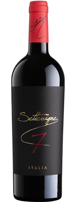 Sette Vigne has an intense dark red color. The aroma recalls cocoa, dark fruit, spices and roasted coffee beans.