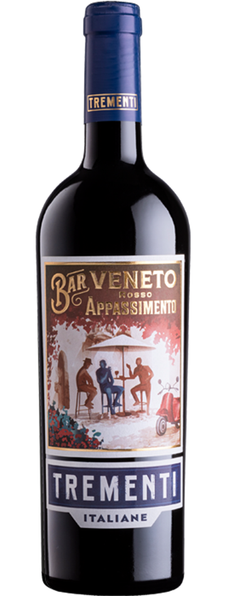 "A bold, yet incredibly soft and approachable red wine. The use of the ""appassimento"" technique generates a wine that displays a bouquet reminiscent of dark cherries, red fruit, chocolate and prunes.